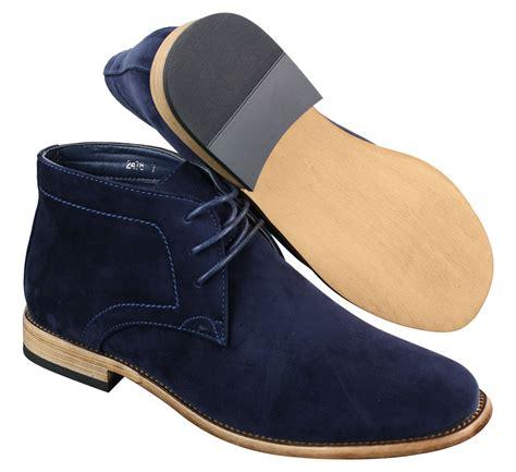 mens black suede dress boots mens suede lace ankle chukka boots chelsea dealer shoes
