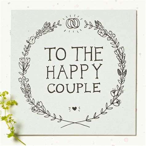 Wedding Card To by To The Happy Wedding Card By Wolf Whistle