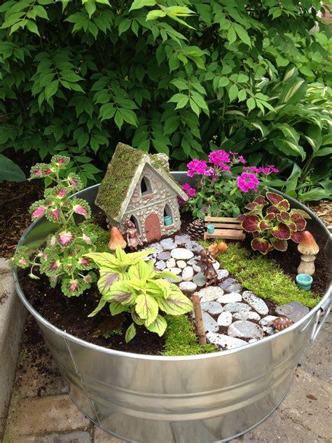 outdoor fairy garden   moss    cover
