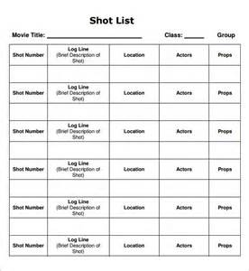 shotlist template worksheets abitlikethis