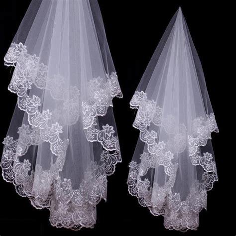 long trailing bridal veil wedding accessories soft