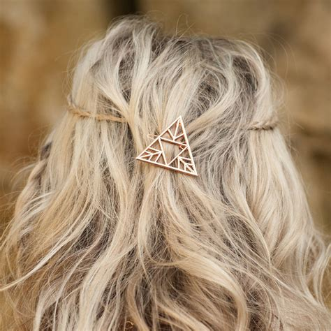 triangle hair triangle hair clip three colours available by