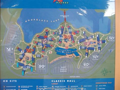 pop century resort map disney s pop century build a better mouse trip