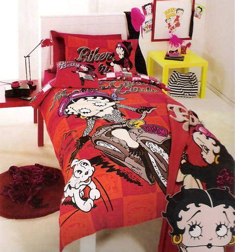 betty boop bedroom set biker betty boop queen quilt doona cover package new