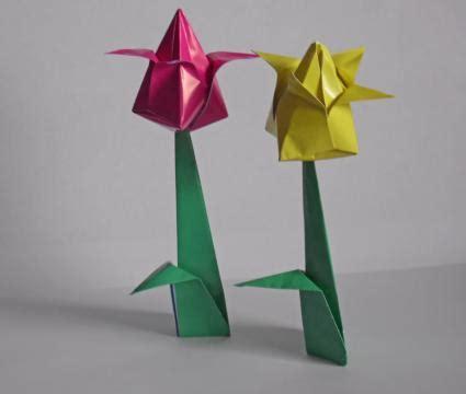Origami Tulip Flower - tulip origami lovetoknow