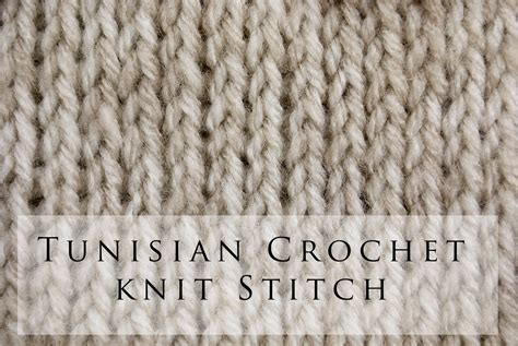 Knit Stitch For Crochet Anaf Info For