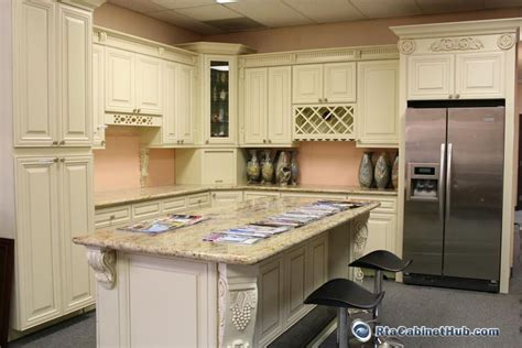 maple glaze vanilla rta kitchen cabinets