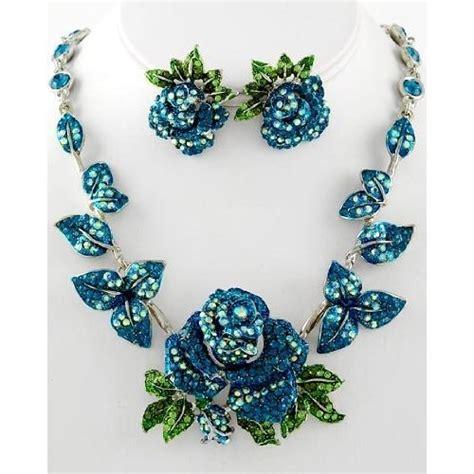 amazon necklace flower necklace set jewelry amazon com jewelry i love