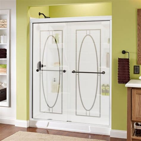 Delta Shower Door Delta Shower Doors Delta Crestfield 48 In X 71 In Semi Frameless Contemporary Sliding Shower
