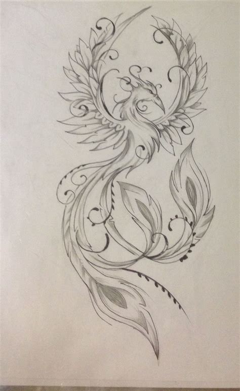 feminine phoenix tattoo designs this might be feminine enough without being girly or