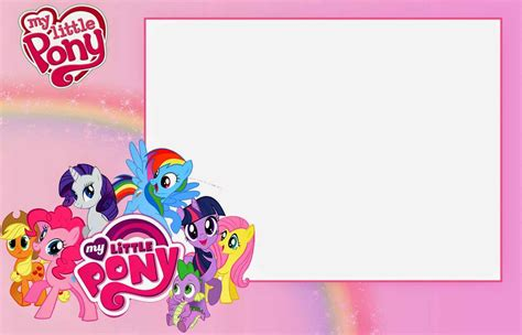 my pony birthday card template my pony birthday invitations birthday