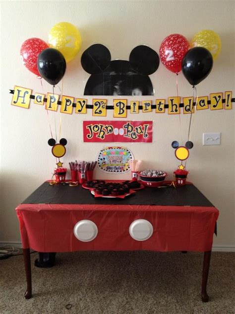 Mickey Mouse Table Decorations by 7 Best Images About Mickey Mouse Birthday Ideas On