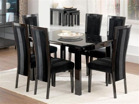 Black Gloss Dining Room Furniture 20 Inspirations Black Gloss Dining Room Furniture Dining