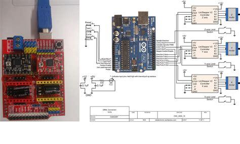 arduino  axis cnc shield stepper board wiring diagram