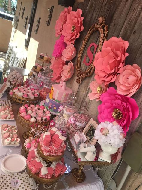 pink flower baby shower baby shower ideas
