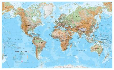 map world world wall map physical