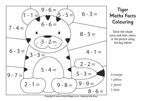Add Homework Math New Site by All Worksheets 187 Maths Calculated Colouring Worksheets
