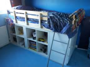 Ikea Hack Bed by An Expedit Bed For Kids Ikea Hackers Ikea Hackers