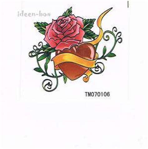 Tattoo Aufkleber Haut Blumen by 48 Tattoos Schmetterlinge Kreuz Herz Blumen Tattoo Set