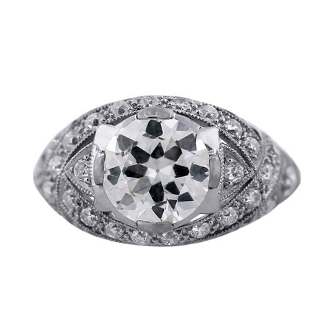 deco inspired rings jewelry platinum deco inspired engagement ring in fl united states for sale on