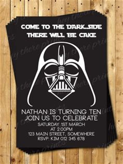darth vader birthday card template 1000 ideas about wars invitations on