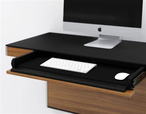 modern wall desk a wall mounted desk for smaller spaces design milk