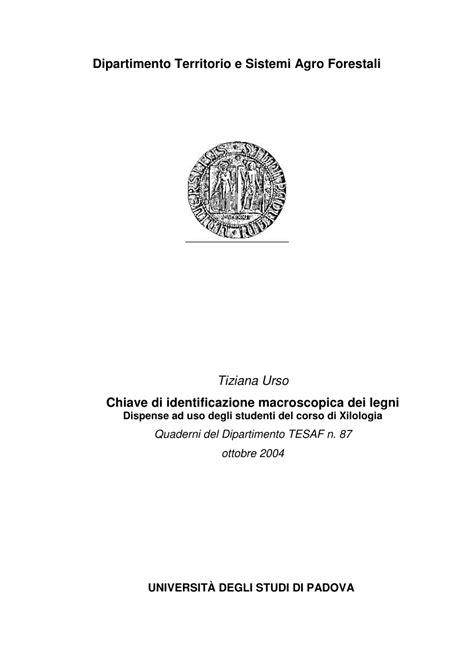 dispense di inglese pdf pdf chiave di identificazione macroscopica dei legni