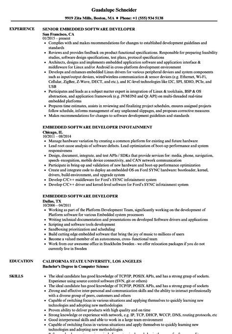 Embedded Developer Resume