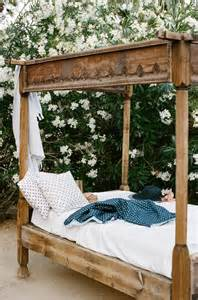 outdoor four poster carved wood bed southern comfort