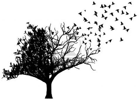 tree with birds tattoo tree birds stock photo 14964492 permanent