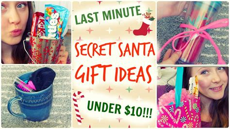 10 dollar gifts quick easy secret santa gift ideas under 10 youtube
