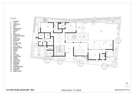 ben rose house floor plan gallery of the long house khosla associates 19