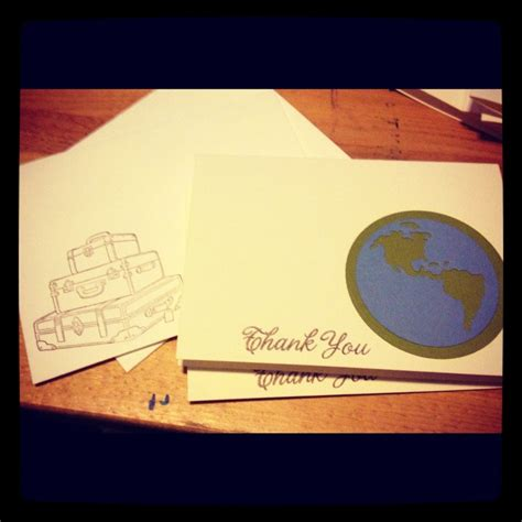 Travel Themed Thank You Cards