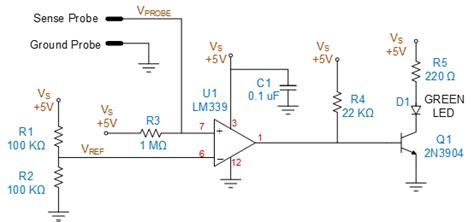 sensing resistor alternative a low cost water sensor circuit