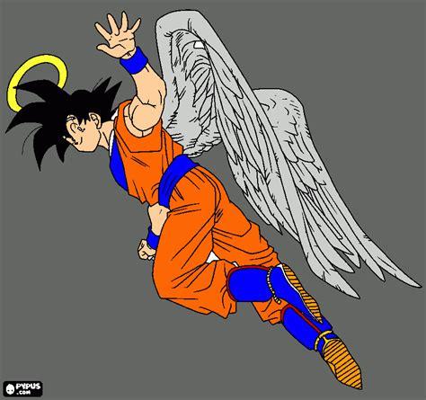 imagenes de goku con alas goku con alas para colorear goku con alas para imprimir