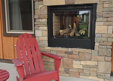 Two Sided Indoor Outdoor Gas Fireplace by Indoor Outdoor Fireplace Sided Home Garden