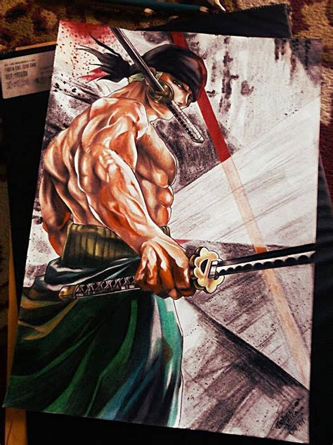roronoa zoro o p by robert sennin on deviantart