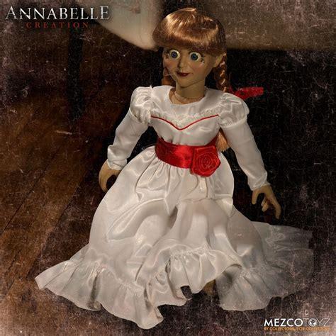 annabelle doll 3 take home mezco toyz s creepy scale annabelle doll