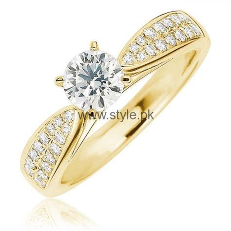 Gelang Tangan Fair White Single engagement gold rings 2016 for