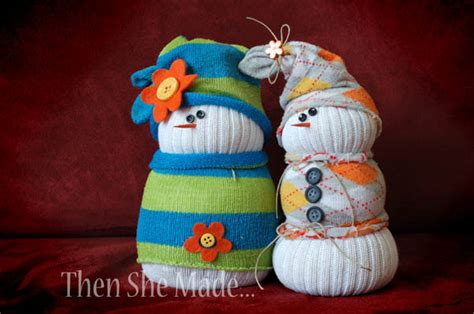 best sock snowman then she made sock snowmen