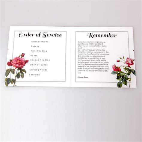 funeral service sheet template 26 best bespoke funeral service sheets images on