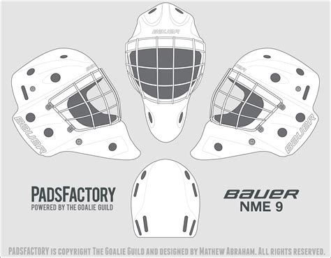 Bauer Goalie Mask Template mask templates the goalie archive