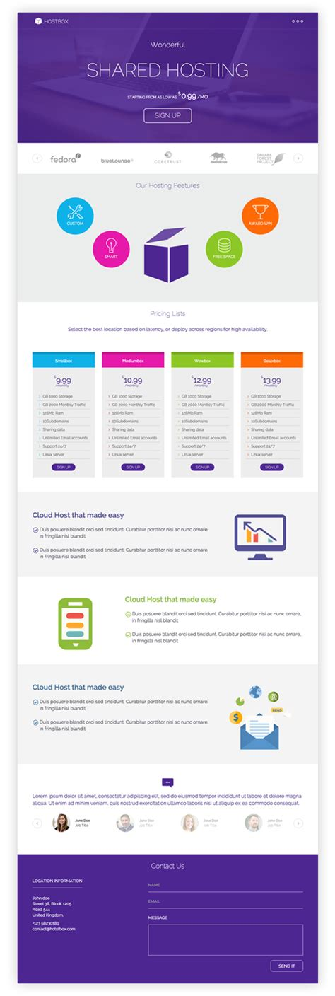 download free hostbox whmcs html5 landing page