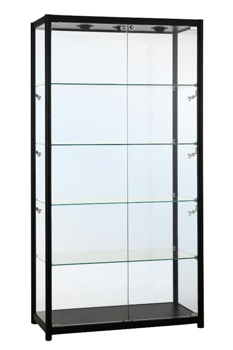 800mm aluminium glass display cabinet