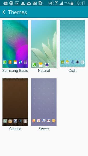 samsung galaxy j2 basic themes more details about samsung touchwiz themes explained
