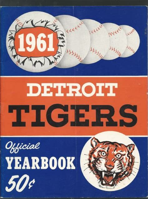 Detroit Tigers Box Office by Lot Detail 1961 Detroit Tigers Official Yearbook