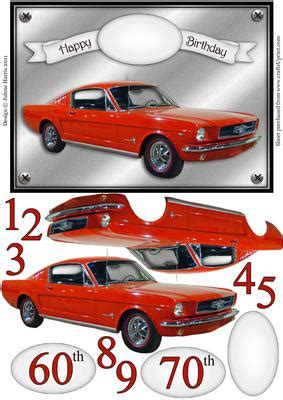 decoupage car classic mustang decoupage card cup239040 499