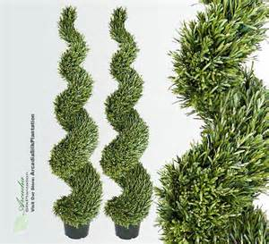 2 rosemary 6 artificial topiary tree plant outdoor