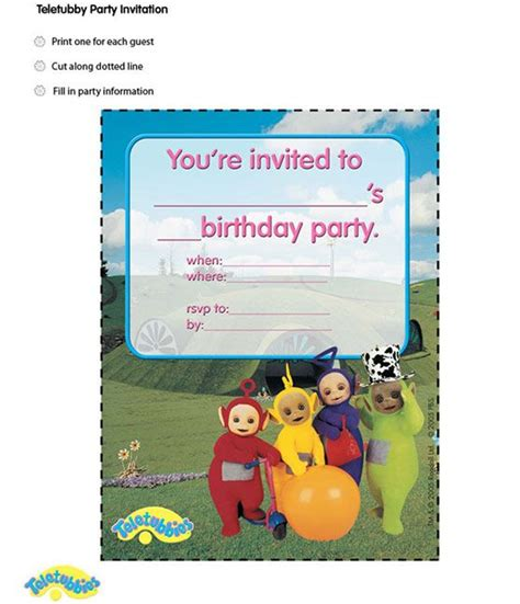 teletubbies cards teletubbies invitation s 2nd birthday