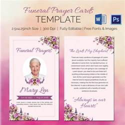 Prayer Cards Template 5 funeral prayer cards word psd format free